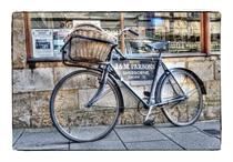 Bike outside Parsons Butchers Sherborne