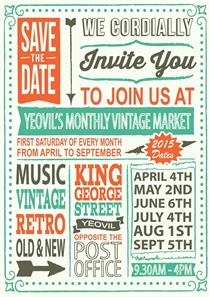 Yeovil Vintage Market Dates